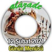 Alazade Restoran 12 Şubat Menü