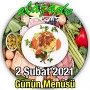 Alazade Restoran 2 Şubat Menü
