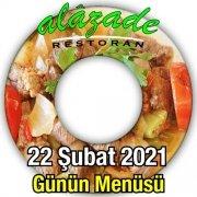 Alazade Restoran 22 Şubat Menü
