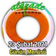 Alazade Restoran 23 Şubat Menü