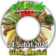 Alazade Restoran 24 Şubat Menü