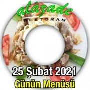 Alazade Restoran 25 Şubat menü