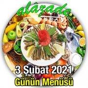Alazade Restoran 3 Şubat Menü