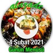 Alazade Restoran 4 Şubat Menü