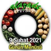Alazade Restoran 9 Şubat Menü