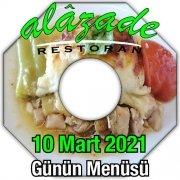 Alazade Restoran 10 Mart Menü