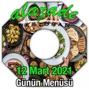 Alazade 12 Mart Menü