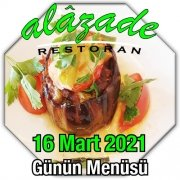 Alazade 16 Mart Menü