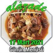 Alazade 17 Mart Menü