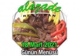 Alazade 18 Mart Menü