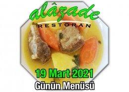 Alazade 19 Mart Menü
