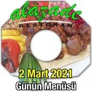 Alazade Restoran 2 Mart Menü