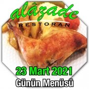 Alazade 23 Mart Menü