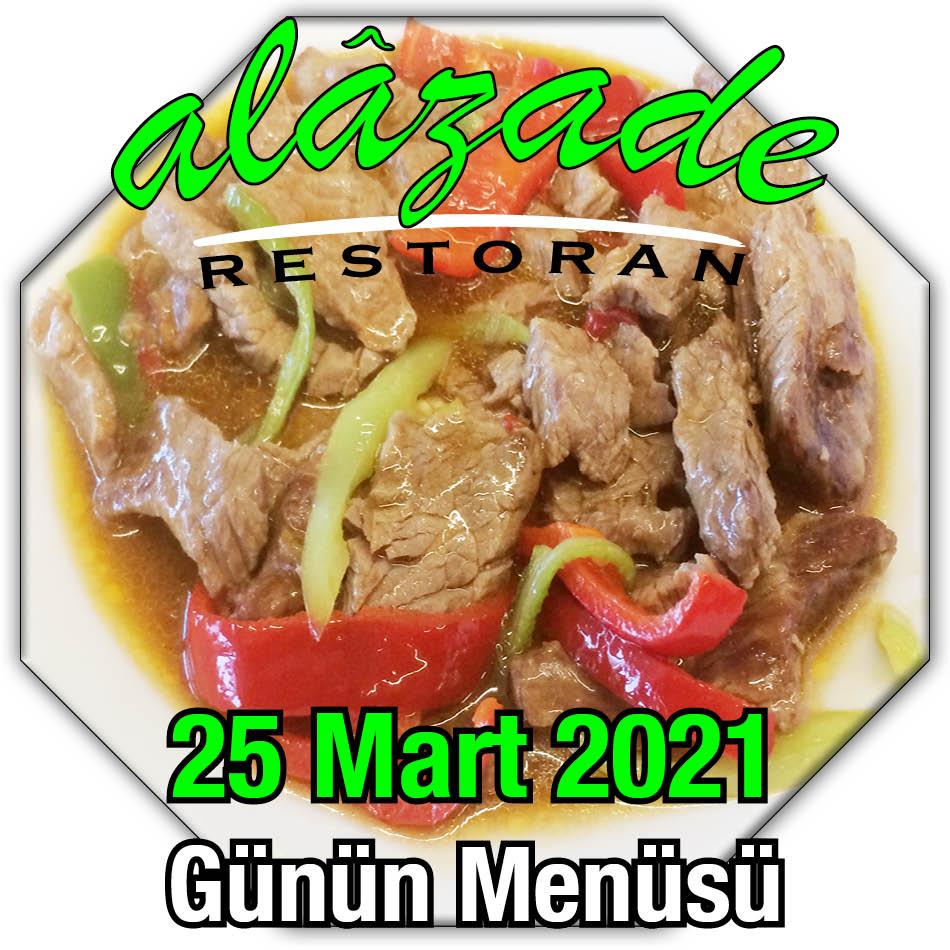 Alazade 25 Mart Menü