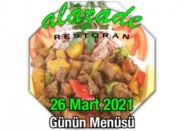Alazade 26 Mart Menü