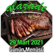 Alazade 29 Mart Menü