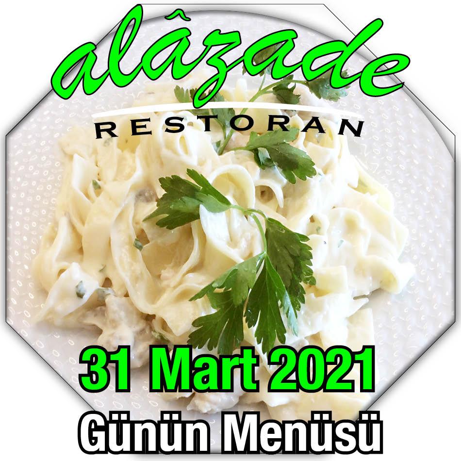 Alazade 31 Mart Menü