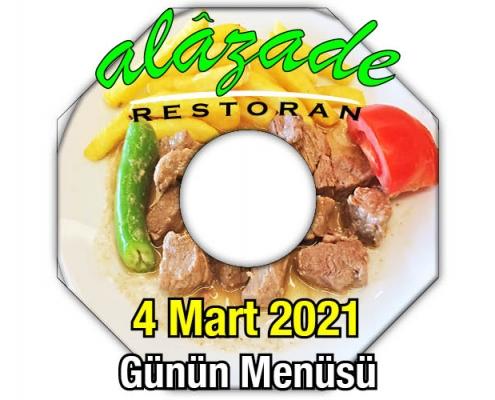 Alazade Restoran 4 Mart menü