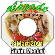 Alazade Restoran 8 Mart Menü