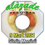 Alazade Restoran 9 Mart Menü