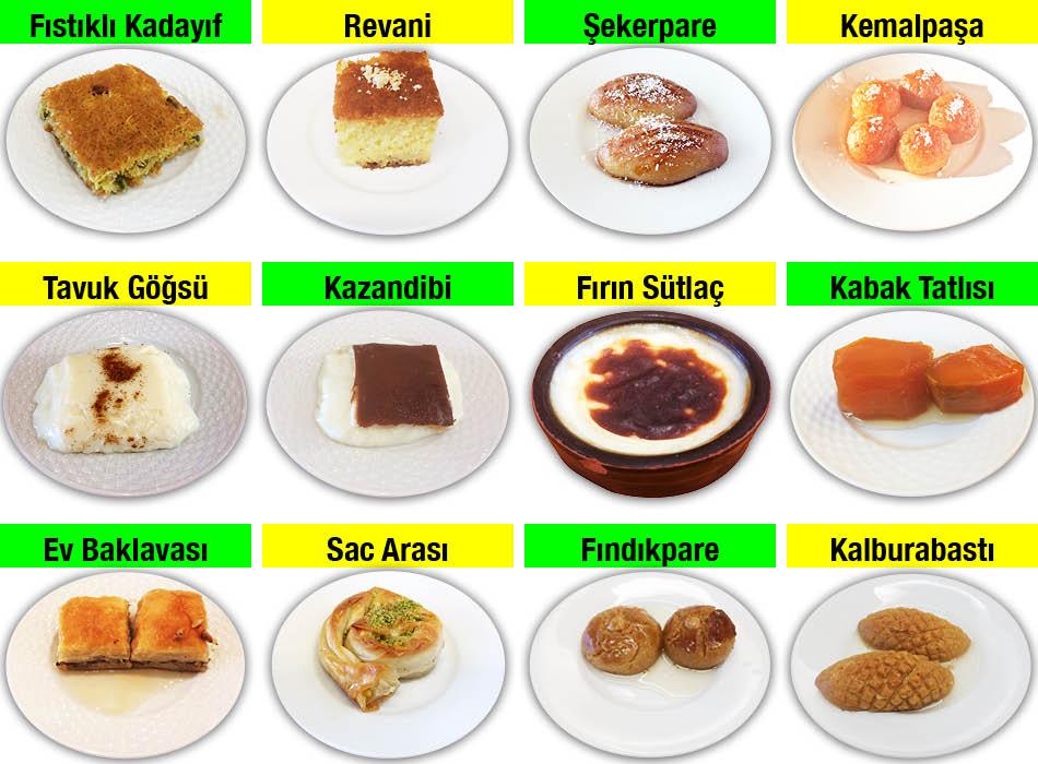 Alazade Restoran Tatlı Çeşitleri