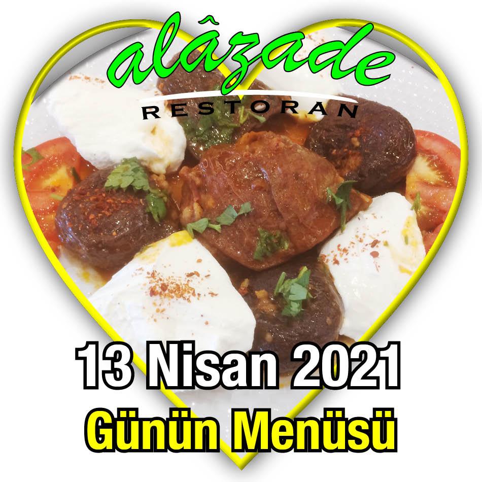 Alazade 13 Nisan Menü