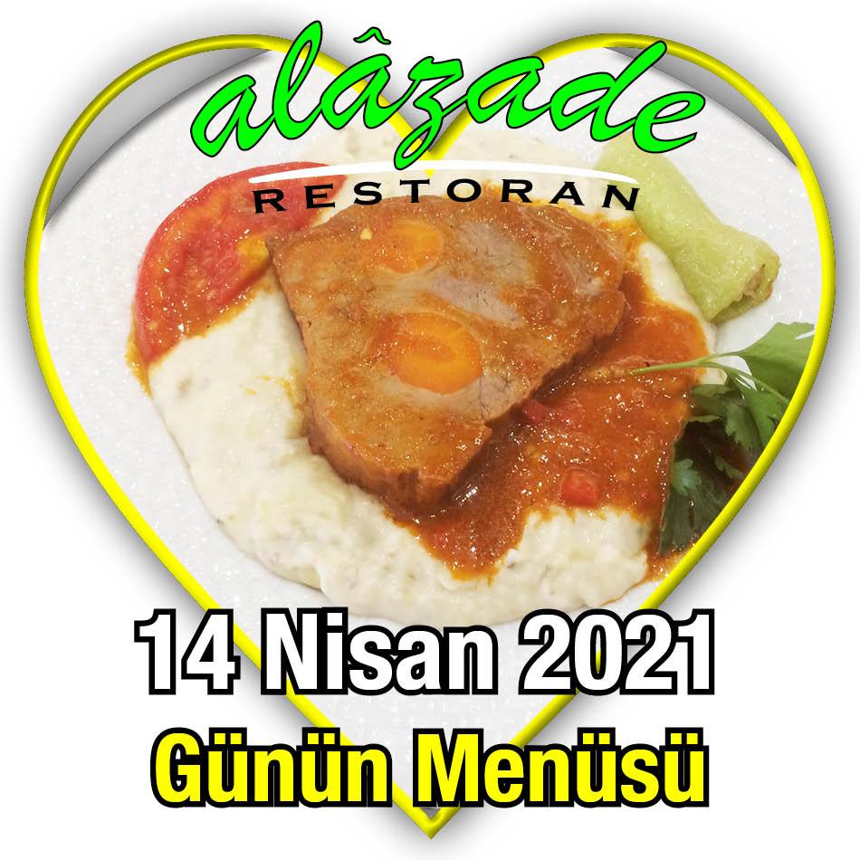 Alazade 14 Nisan Menü