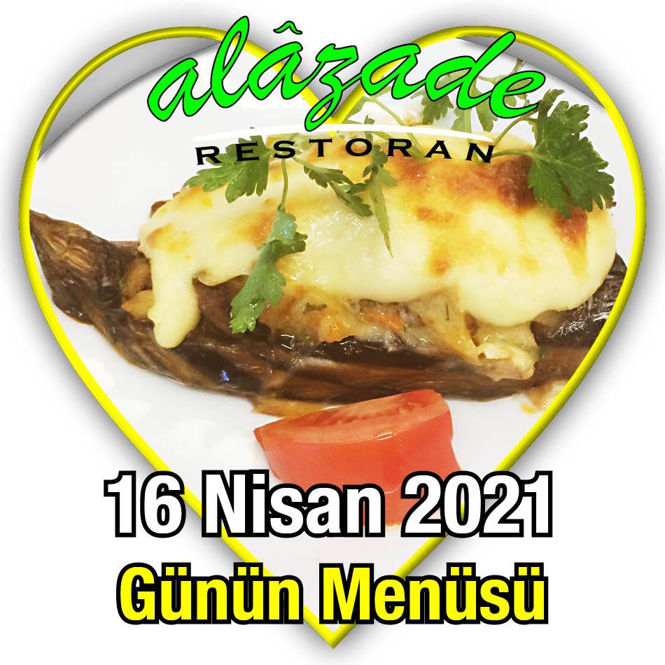 Alazade Restoran 16 Nisan Menü