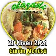 Alazade 20 Nisan Menü