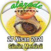 Alazade 27 Nisan Menü