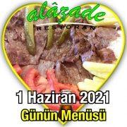 Alazade 1 Haziran Menü