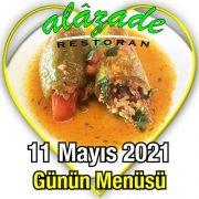 Alazade 11 Mayıs Menü