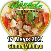 Alazade 17 Mayıs Menü