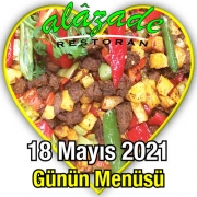 Alazade 18 Mayıs Menü