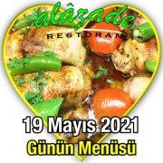 Alazade 19 Mayıs Menü