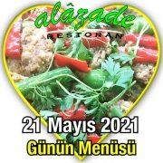 Alazade 21 Mayıs Menü