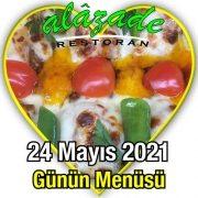 Alazade 24 Mayıs Menü
