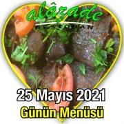 Alazade 25 Mayıs Menü