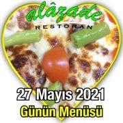 Alazade27 Mayıs Menü