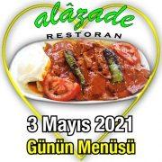 Alazade 3 Mayıs Menü