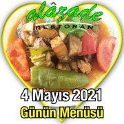 Alazade 4 Mayıs Menü