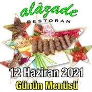 Alazade 12 Haziran Menü