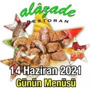 Alazade 14 Haziran Menü