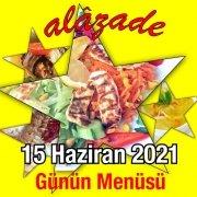 Alazade 15 Haziran Menü