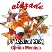 Alazade 17 Haziran Menü
