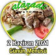 Alazade 2 Haziran Menü