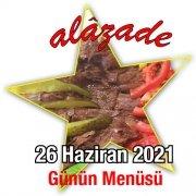 Alazade 26 Haziran Menü
