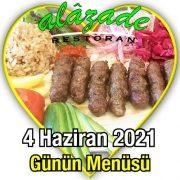 Alazade 4 Haziran Menü
