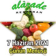 Alazade 7 Haziran Menü