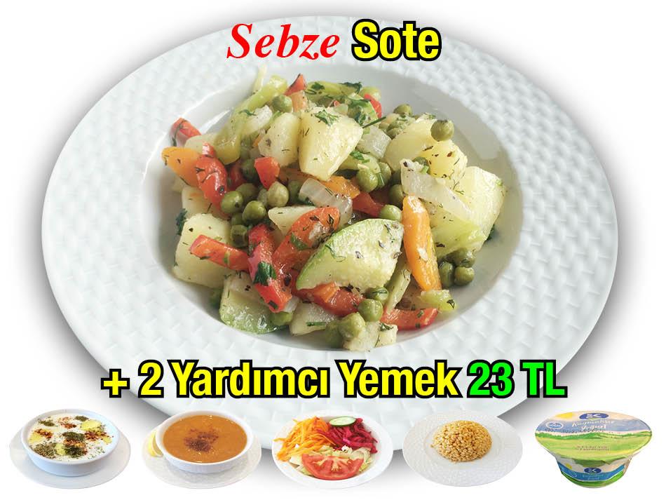 Alazade Sebze Sote Menü
